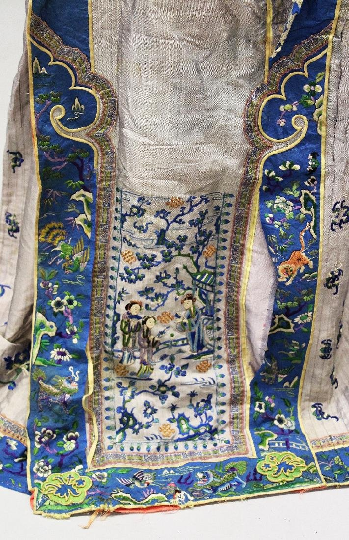 ANOTHER 19TH CENTURY CHINESE EMBROIDERED SILK SKIRT, - 2