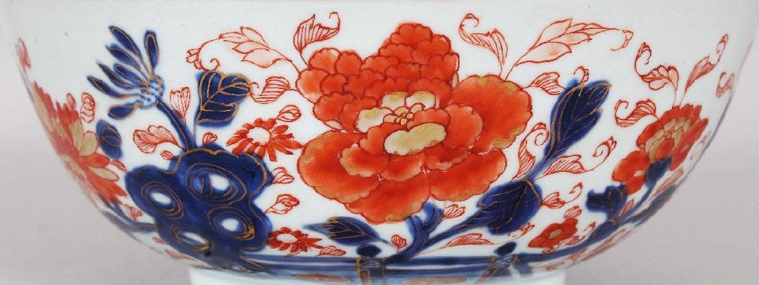 AN EARLY 18TH CENTURY CHINESE IMARI PORCELAIN BOWL, - 3