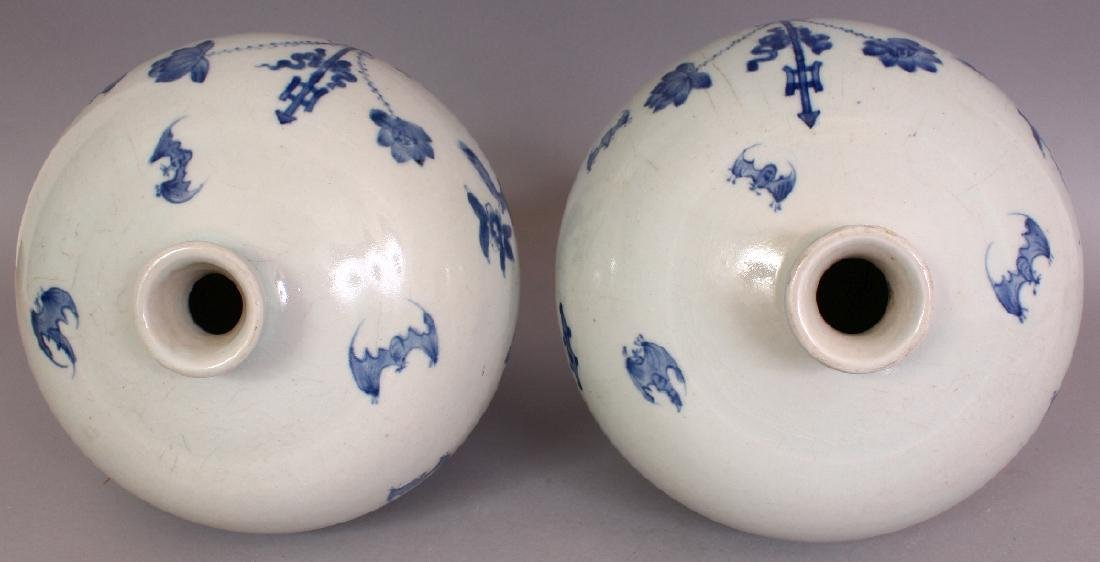 A PAIR OF CHINESE MEIPING PORCELAIN VASES, each - 6