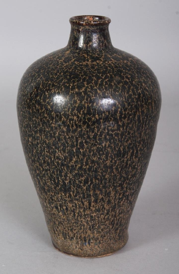 A CHINESE JIZHOU WARE MOTTLED GLAZE CERAMIC VASE, the - 2