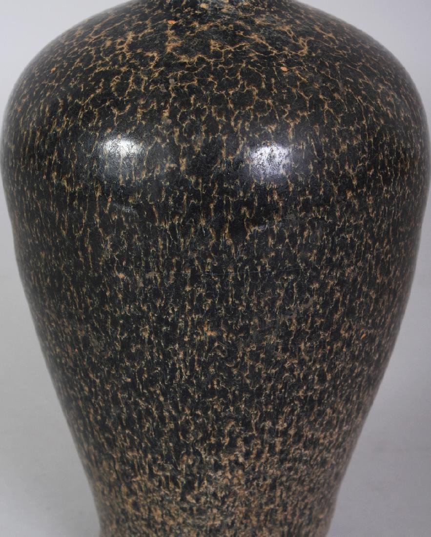 A CHINESE JIZHOU WARE MOTTLED GLAZE CERAMIC VASE, the - 3