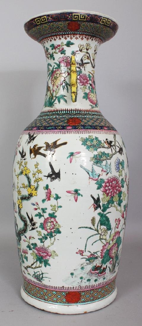 A LARGE 19TH CENTURY CHINESE FAMILLE VERTE PORCELAIN - 2