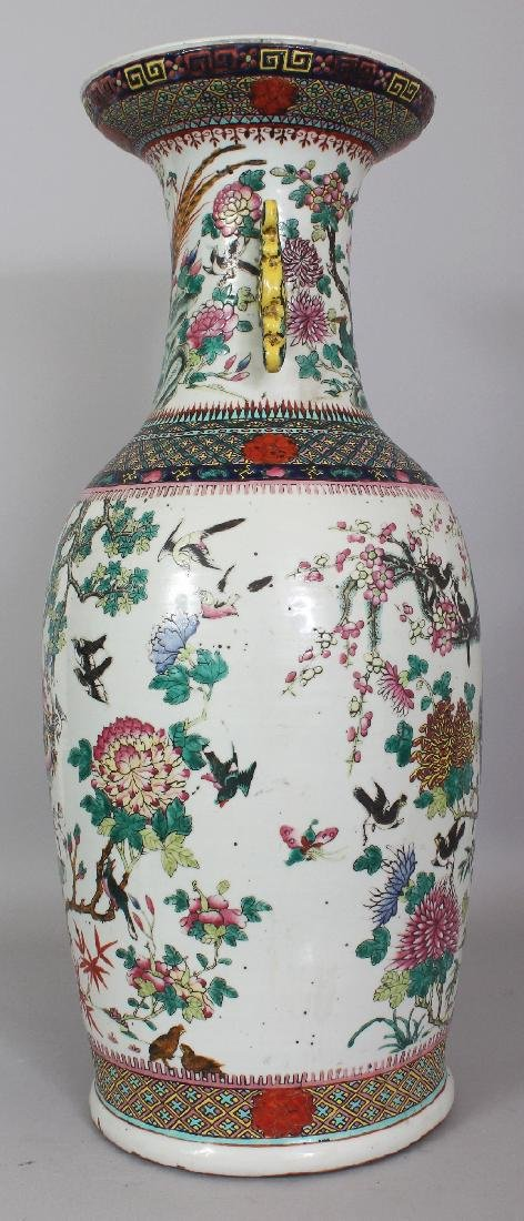 A LARGE 19TH CENTURY CHINESE FAMILLE VERTE PORCELAIN - 4