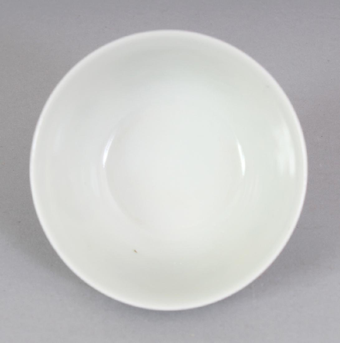 A CHINESE MING STYLE DOUCAI PORCELAIN TEABOWL, the base - 4