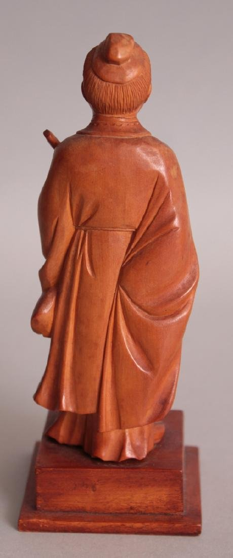 A GOOD QUALITY CHINESE COMMUNIST PERIOD CARVED WOOD - 3