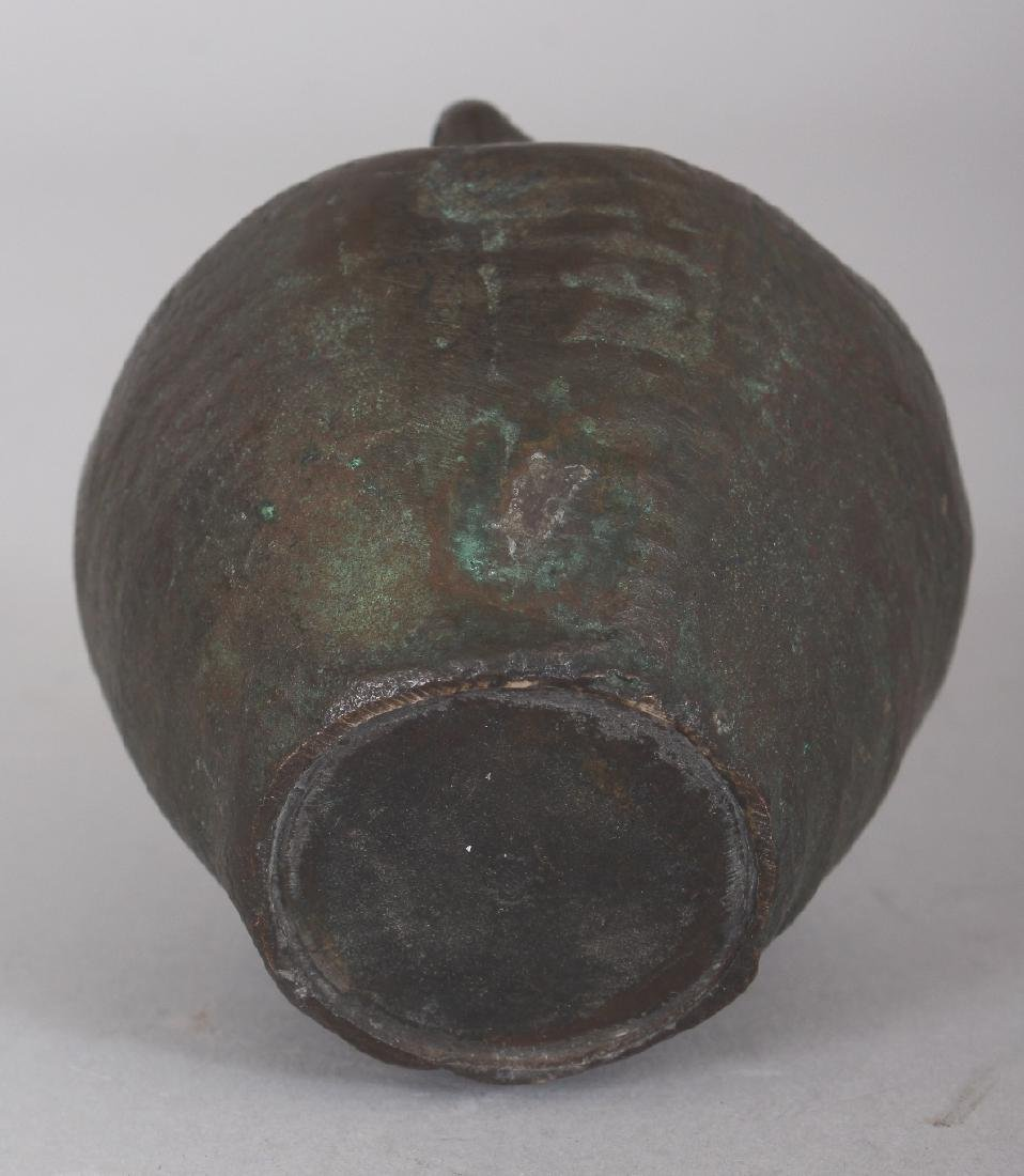 A SMALL CHINESE MING STYLE BRONZE VASE, cast in the - 4