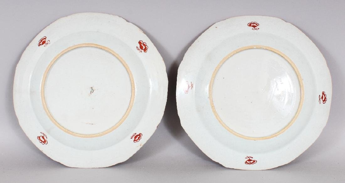 A PAIR OF 18TH CENTURY CHINESE OCTAGONAL CLOBBERED - 3