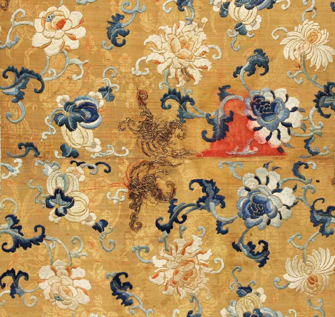 A LARGE 19TH CENTURY CHINESE WOOD FRAMED ORANGE GROUND - 3