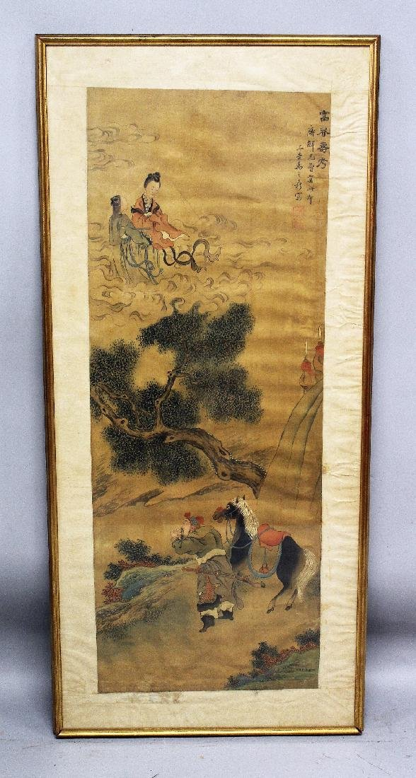 ANOTHER LARGE FRAMED EARLY 20TH CENTURY CHINESE