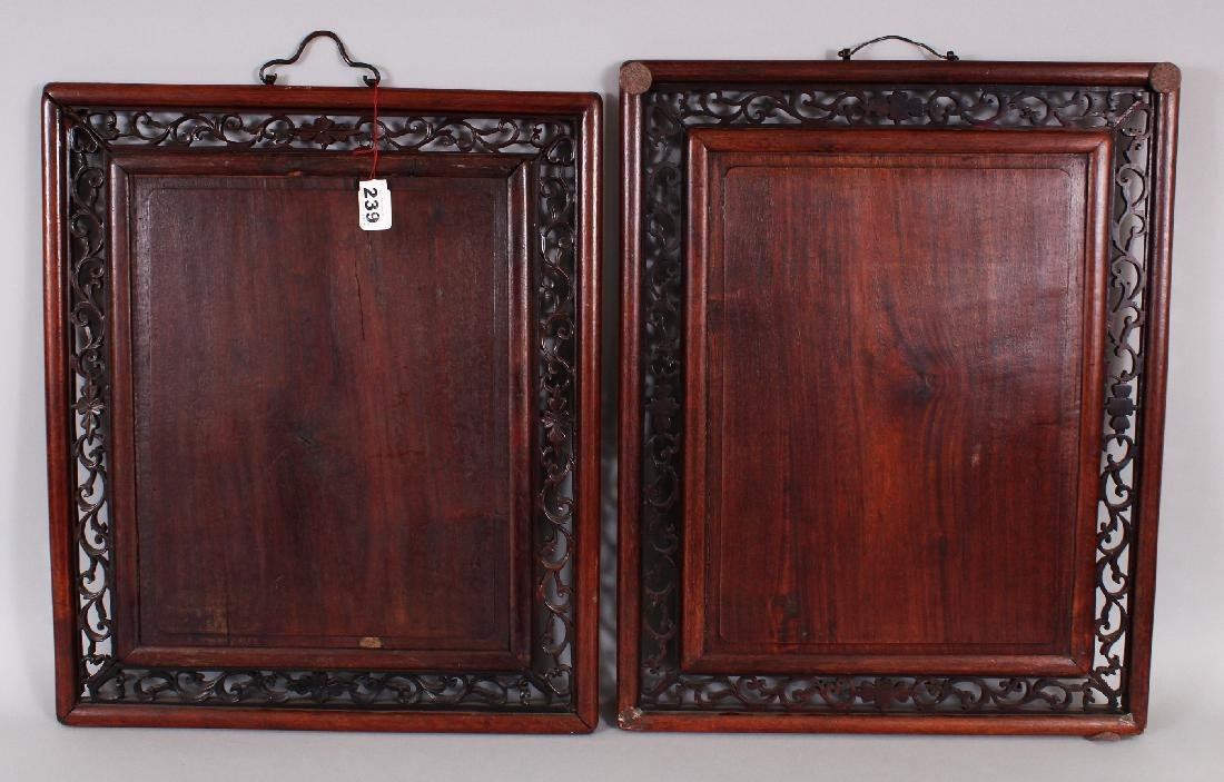 A NEAR PAIR OF EARLY 20TH CENTURY CHINESE PAINTED - 4