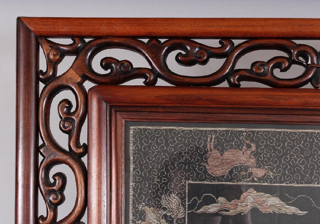 A LARGE EARLY 20TH CENTURY GOOD QUALITY HARDWOOD FRAMED - 3
