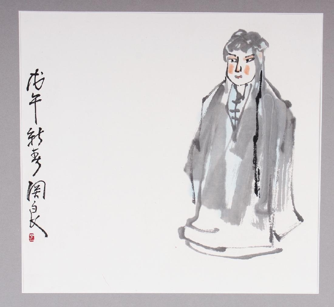 A 20TH CENTURY CHINESE MOUNTED PAINTING ON PAPER, the