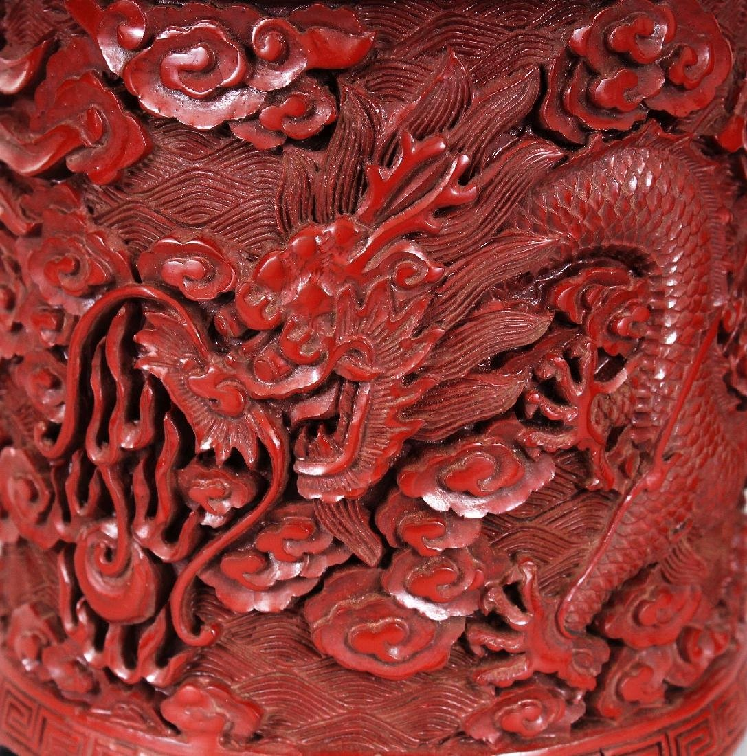 THREE 19TH & 20TH CENTURY CHINESE RED CINNABAR LACQUER - 5