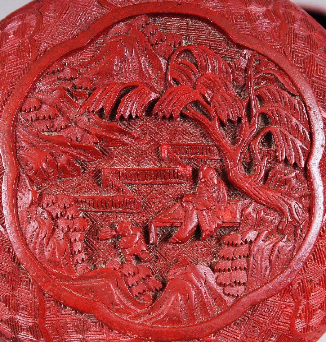 THREE 19TH & 20TH CENTURY CHINESE RED CINNABAR LACQUER - 7