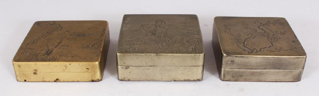THREE SIMILAR EARLY 20TH CENTURY CHINESE SQUARE FORM