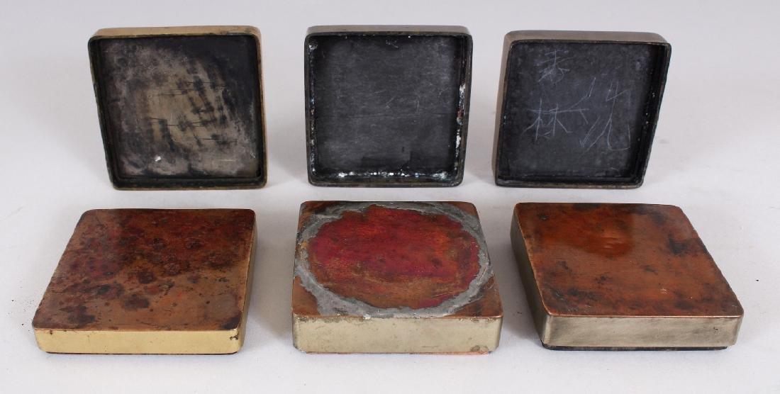 THREE SIMILAR EARLY 20TH CENTURY CHINESE SQUARE FORM - 7