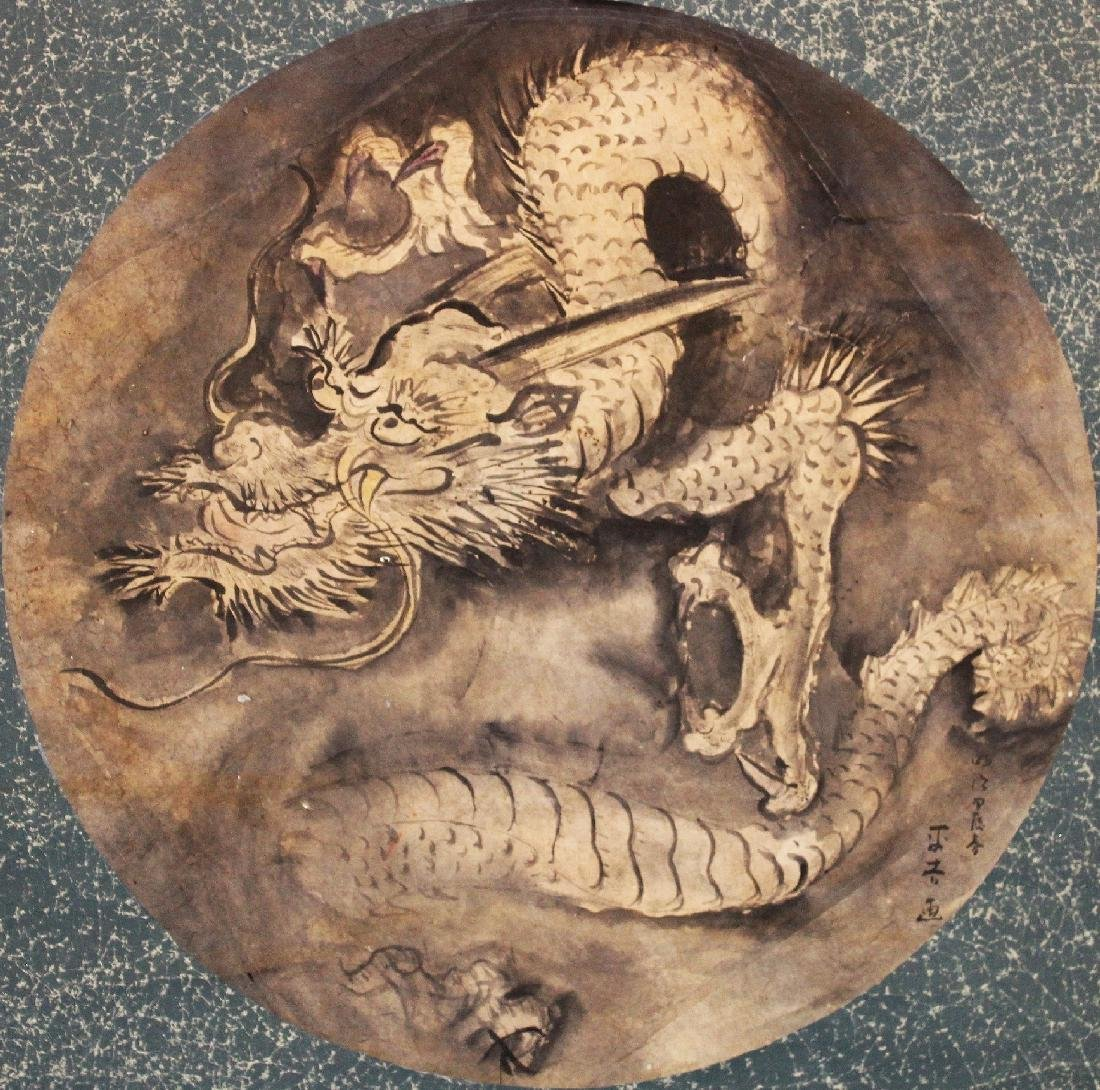 AN EARLY 20TH CENTURY JAPANESE HANGING SCROLL PAINTING - 2