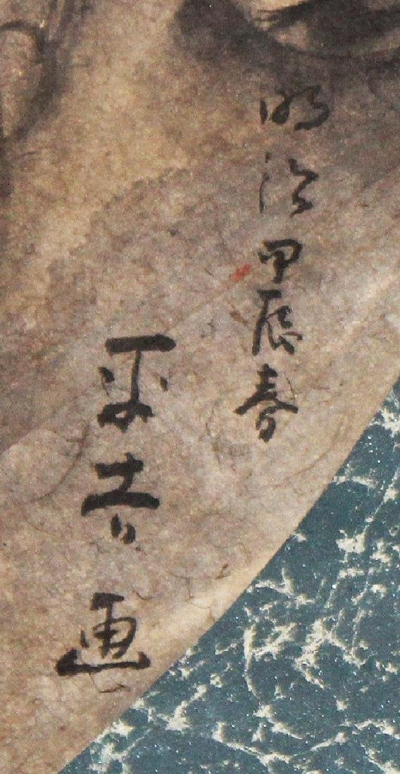 AN EARLY 20TH CENTURY JAPANESE HANGING SCROLL PAINTING - 3