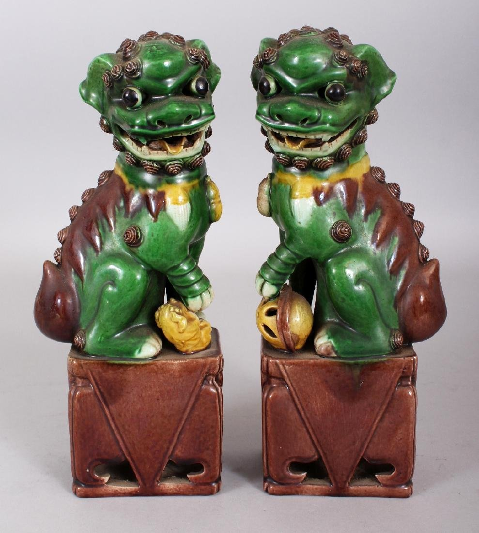 A PAIR OF 19TH/20TH CENTURY CHINESE FAMILLE VERTE