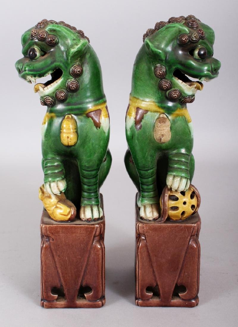 A PAIR OF 19TH/20TH CENTURY CHINESE FAMILLE VERTE - 2