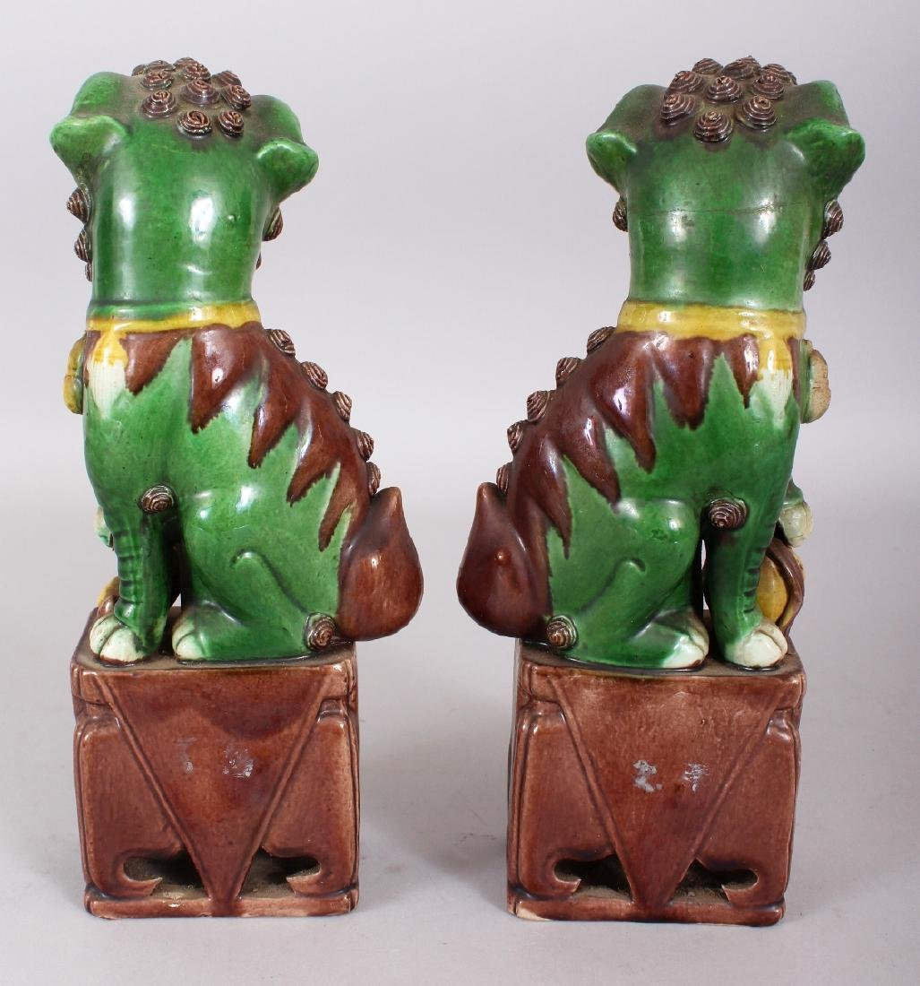 A PAIR OF 19TH/20TH CENTURY CHINESE FAMILLE VERTE - 3