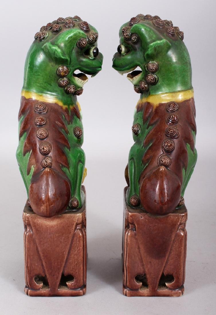 A PAIR OF 19TH/20TH CENTURY CHINESE FAMILLE VERTE - 4