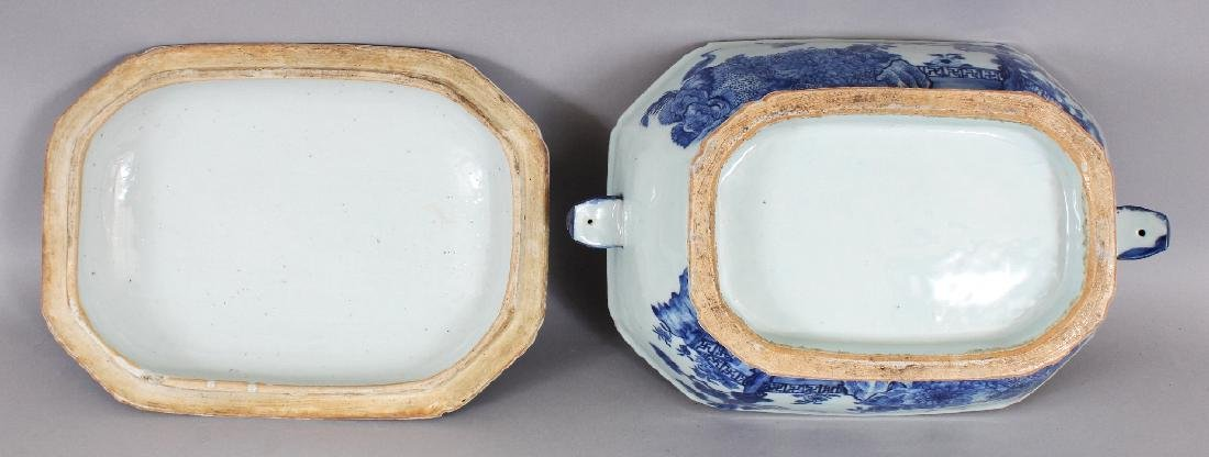 AN 18TH CENTURY CHINESE QIANLONG PERIOD BLUE & WHITE - 9