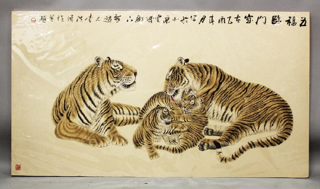 A VERY LARGE GOOD QUALITY 20TH CENTURY CHINESE PAINTING