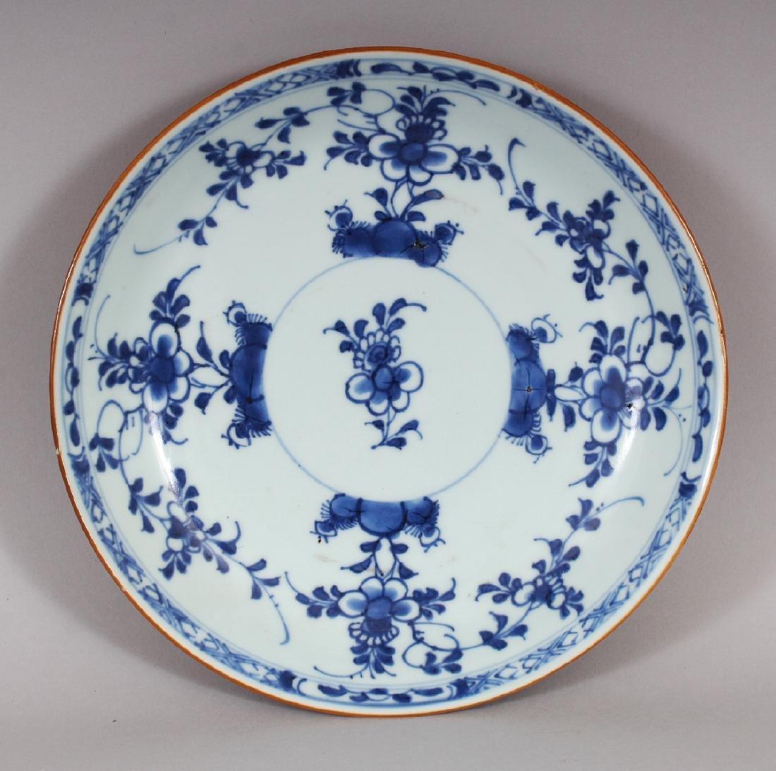 A CHINESE KANGXI PERIOD BLUE & WHITE BATAVIAN WARE