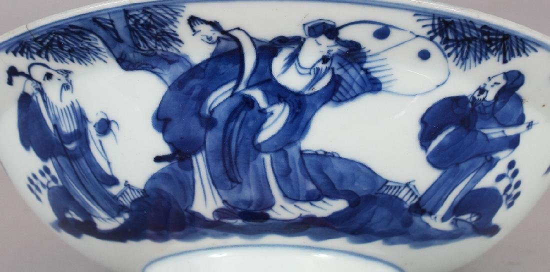 A 19TH CENTURY CHINESE BLUE & WHITE PORCELAIN BOWL, of - 3