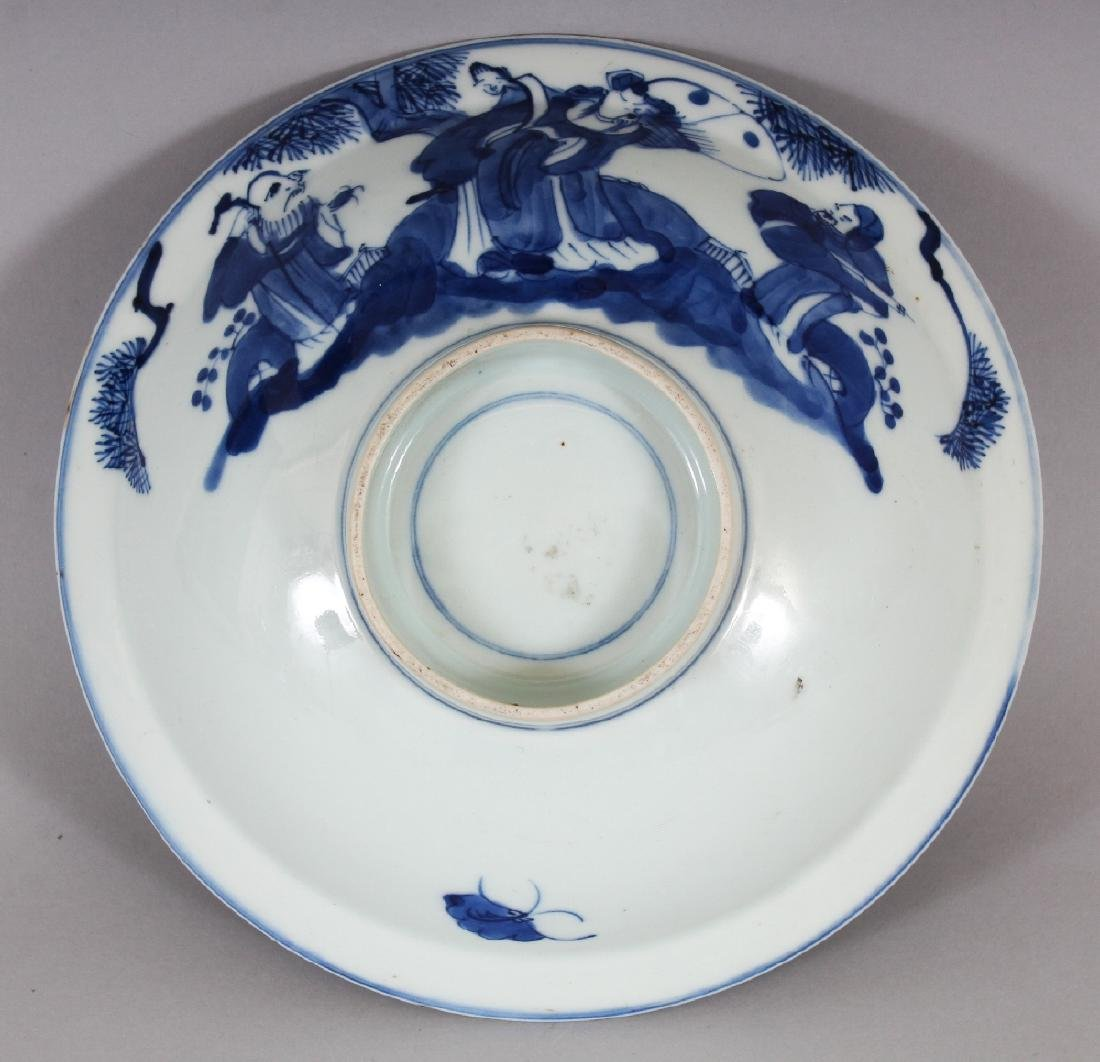 A 19TH CENTURY CHINESE BLUE & WHITE PORCELAIN BOWL, of - 6
