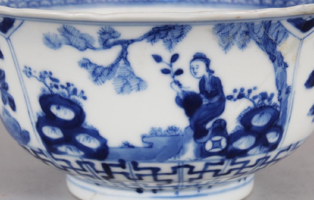 A 19TH CENTURY CHINESE BLUE & WHITE PORCELAIN BOWL, the - 3