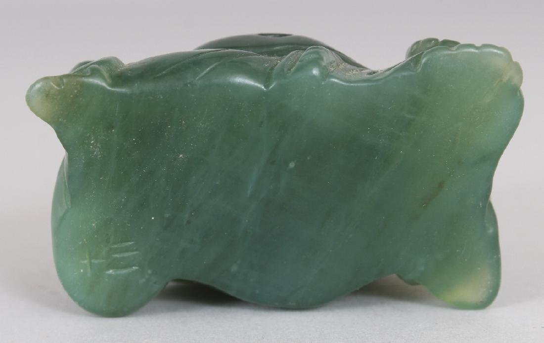 AN EARLY/MID 20TH CENTURY CHINESE GREEN HARDSTONE - 6