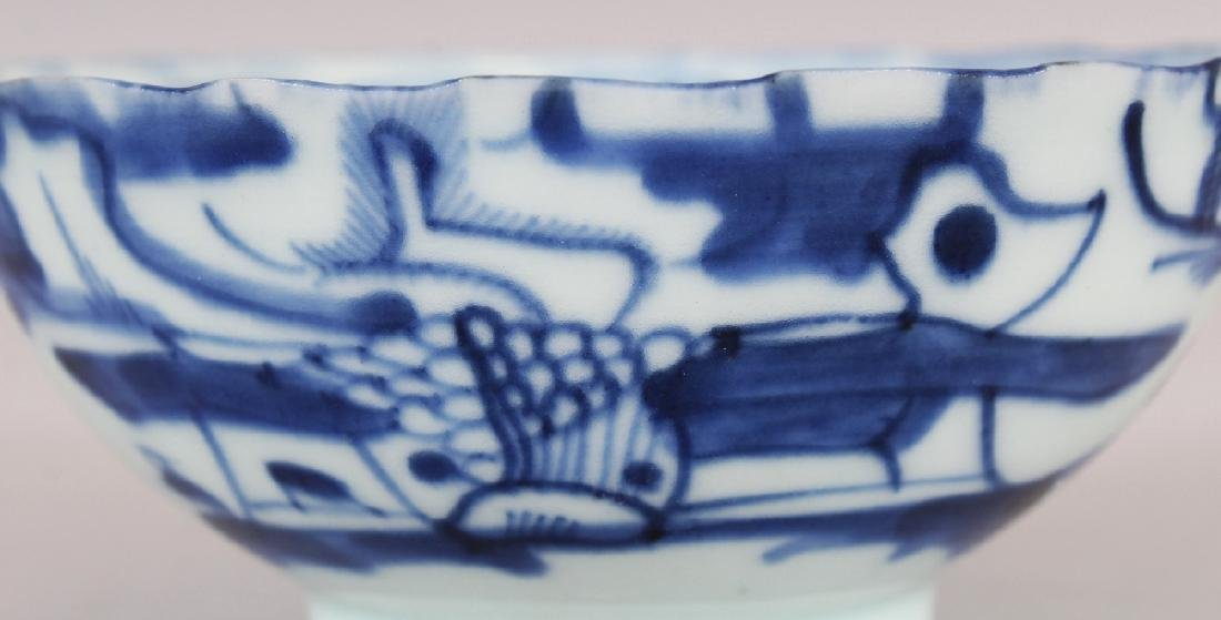 A SMALL 19TH CENTURY CHINESE BLUE & WHITE PROVINCIAL - 3