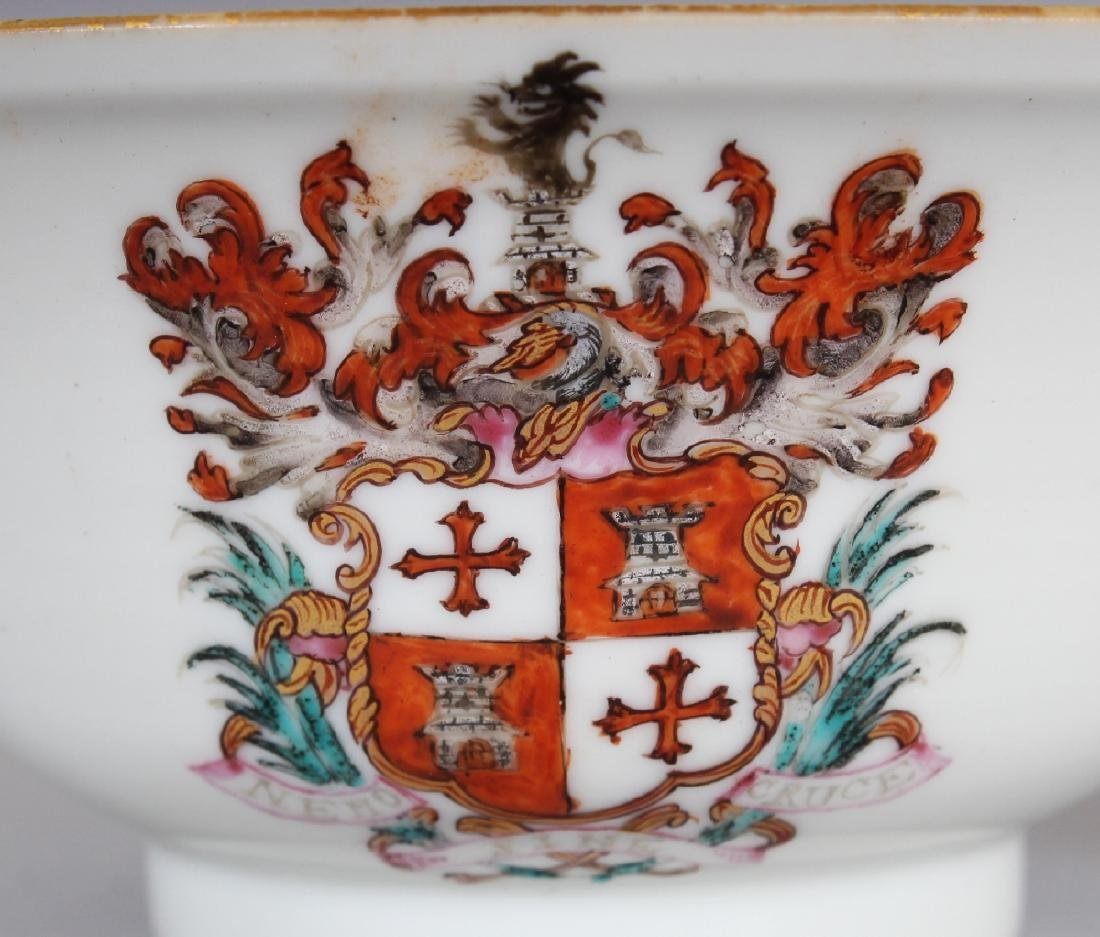 AN 18TH CENTURY CHINESE ARMORIAL PORCELAIN BOWL, - 3