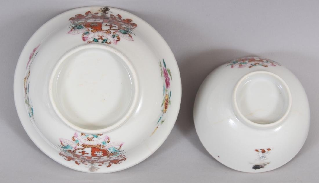 AN 18TH CENTURY CHINESE ARMORIAL PORCELAIN BOWL, - 5