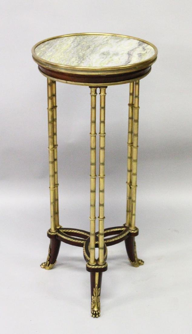 A GOOD LATE 19TH CENTURY FRENCH MAHOGANY, ORMOLU AND
