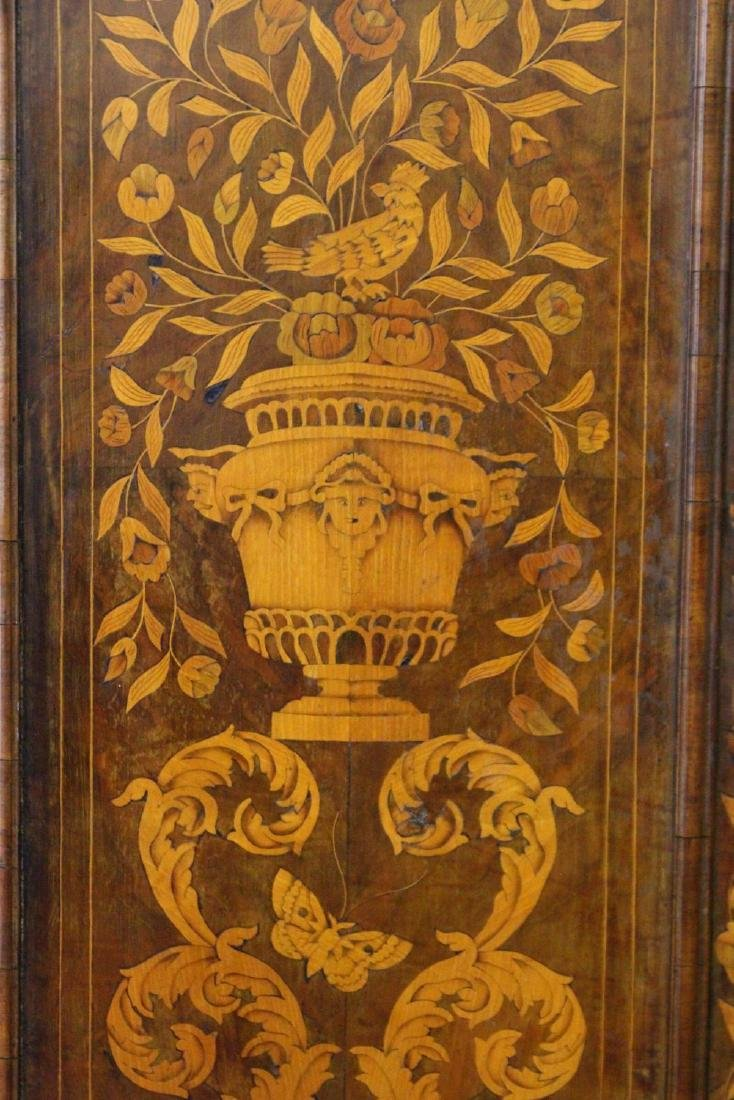 A 19TH CENTURY DUTCH WALNUT AND MARQUETRY STANDING - 2
