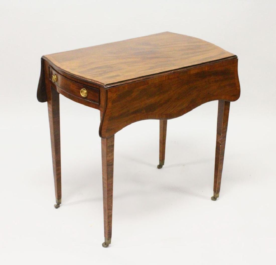 "A GOOD GEORGE III MAHOGANY ""BUTTERFLY"" PEMBROKE TABLE,"
