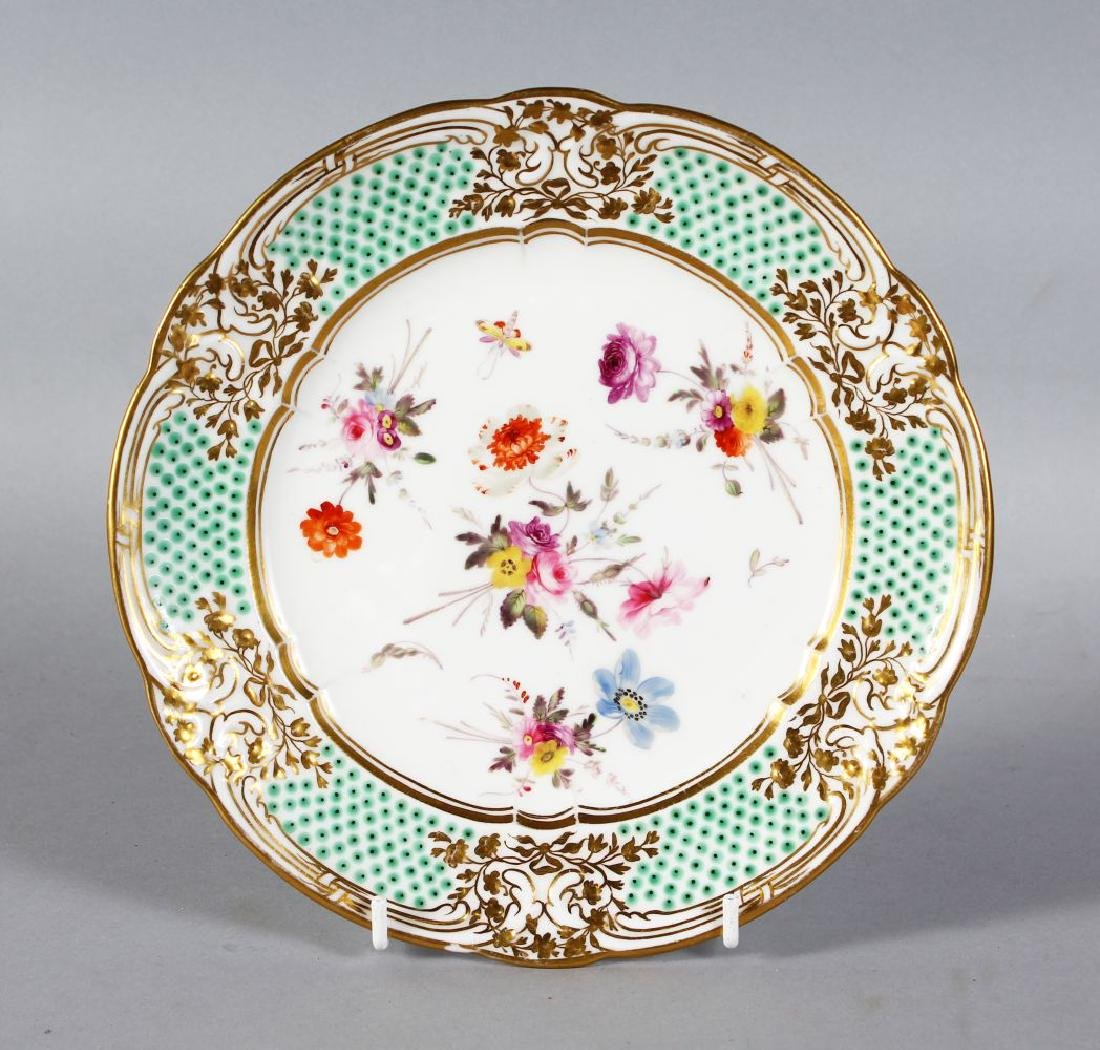A NANTGARW PORCELAIN PLATE 8.25ins diameter, with gilt
