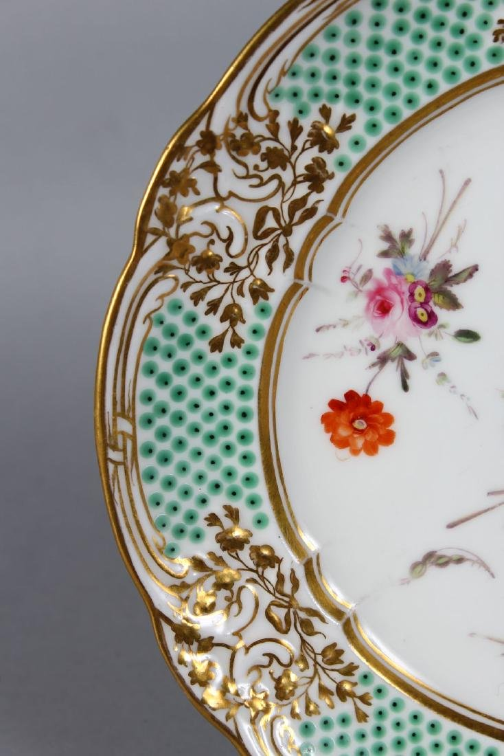 A NANTGARW PORCELAIN PLATE 8.25ins diameter, with gilt - 3
