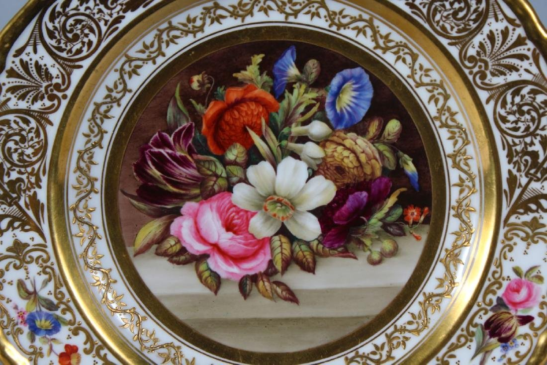A STEVENS & HANCOCK PORCELAIN PLATE, the border with - 2