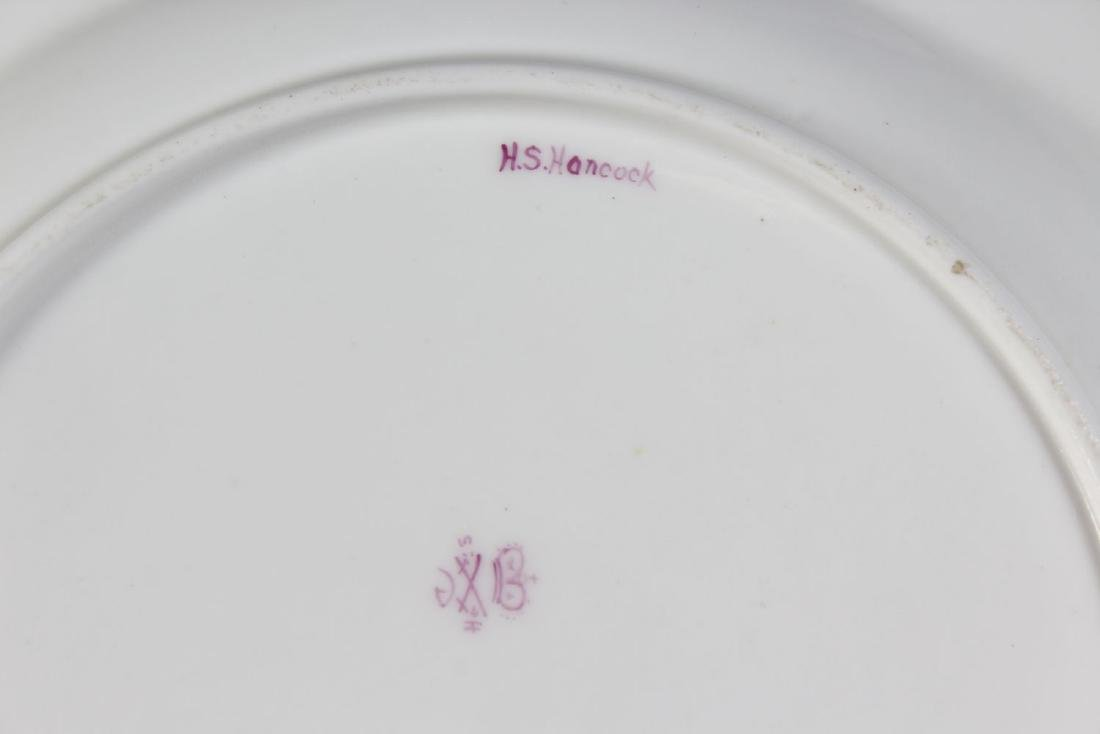 A STEVENS & HANCOCK PORCELAIN PLATE, the border with - 4