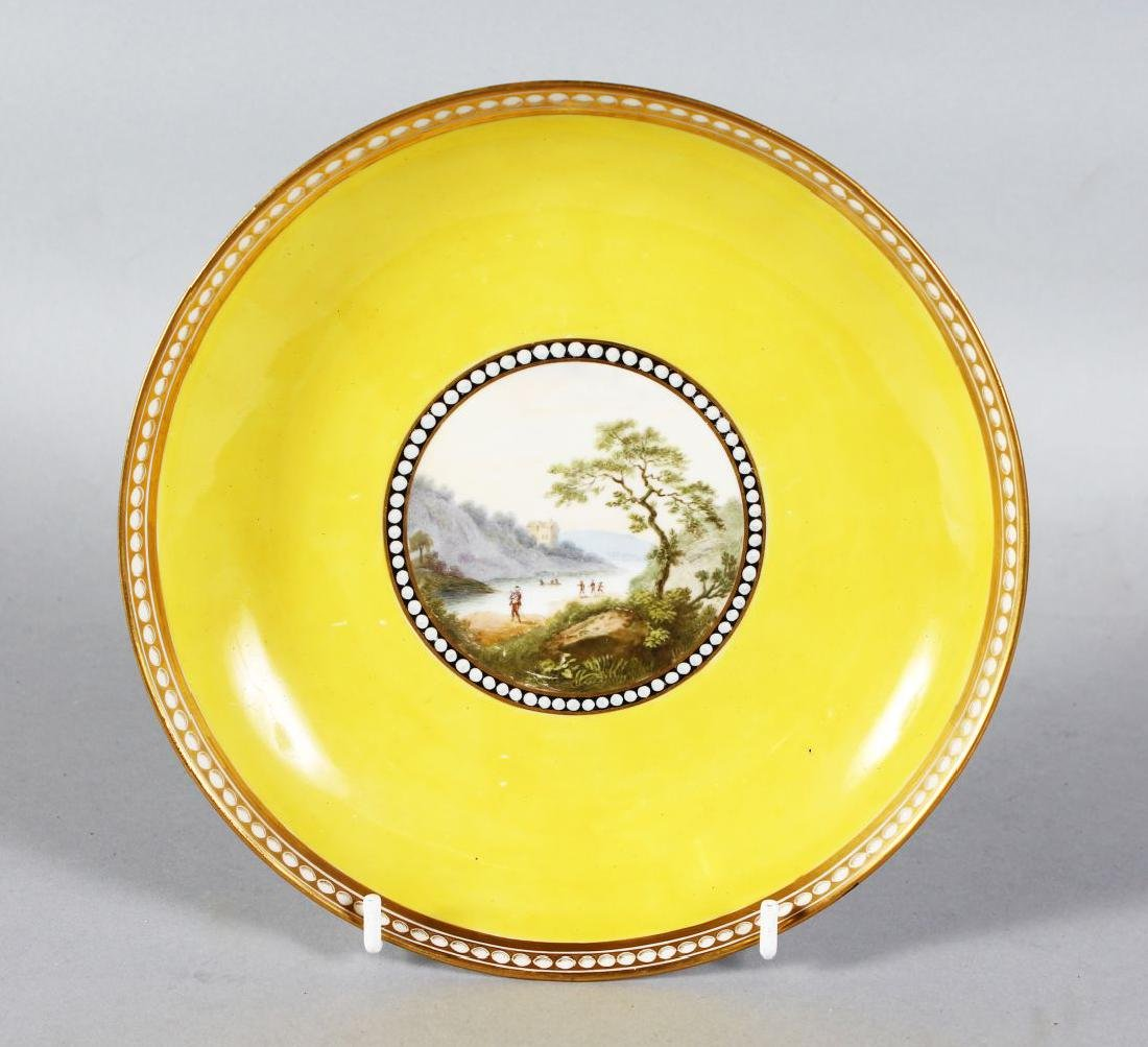 A DERBY PORCELAIN PLATE painted by WILLIAM LONGDEN with