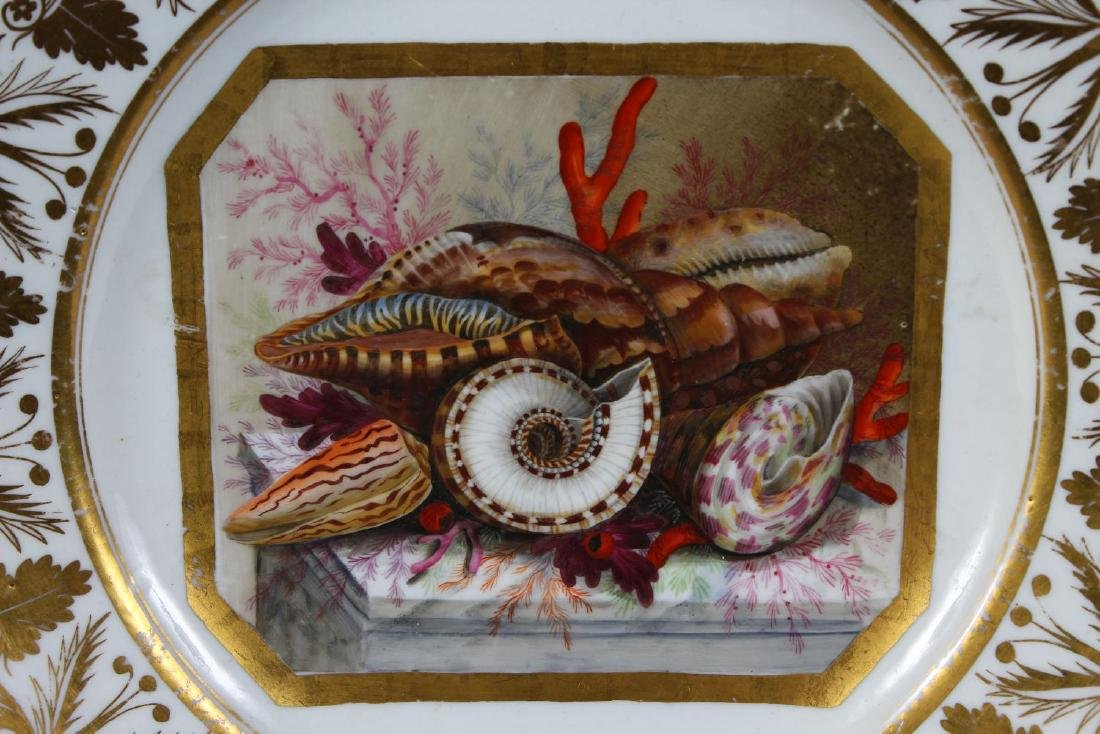A DERBY PORCELAIN PLATE with rich gilt border, the - 2