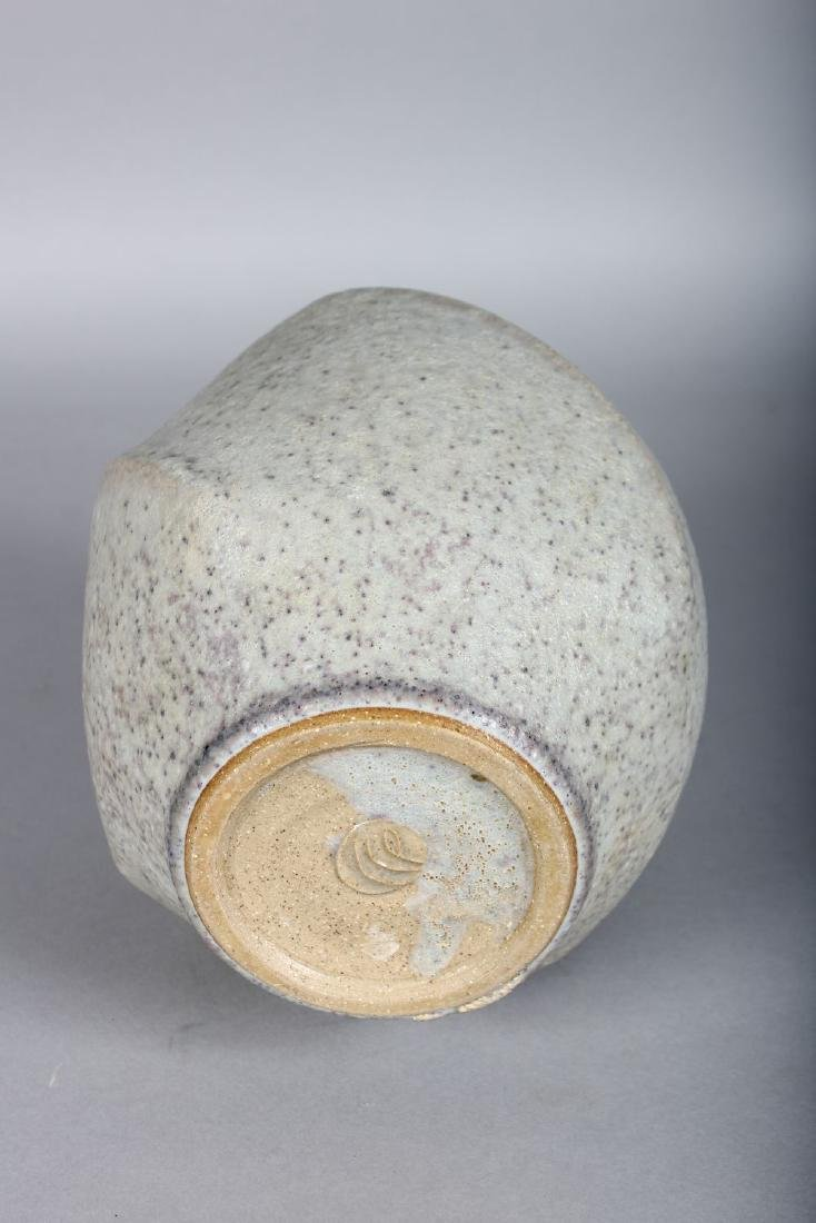 A LARGE OXIDISED STUDIO POTTERY VASE by CHRISTOPHER - 2