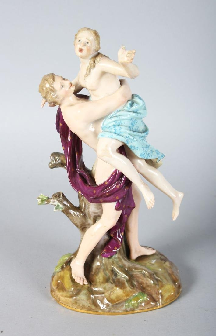 A 19TH CENTURY MEISSEN FIGURE GROUP OF THE RAPE OF