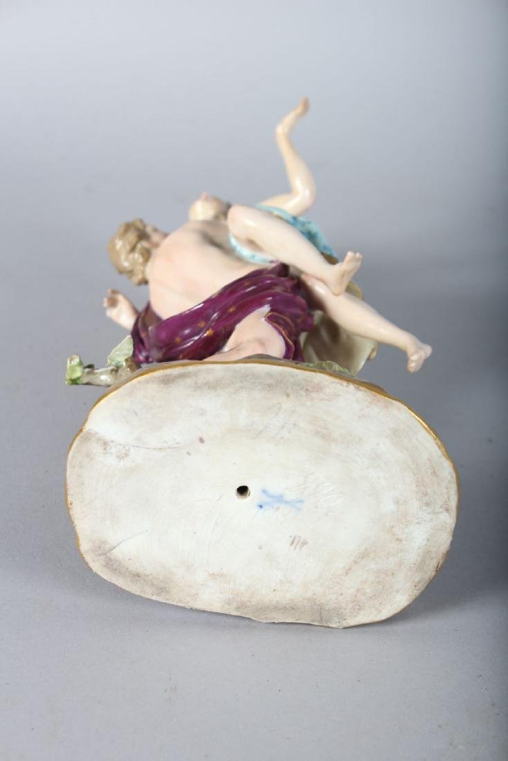 A 19TH CENTURY MEISSEN FIGURE GROUP OF THE RAPE OF - 3