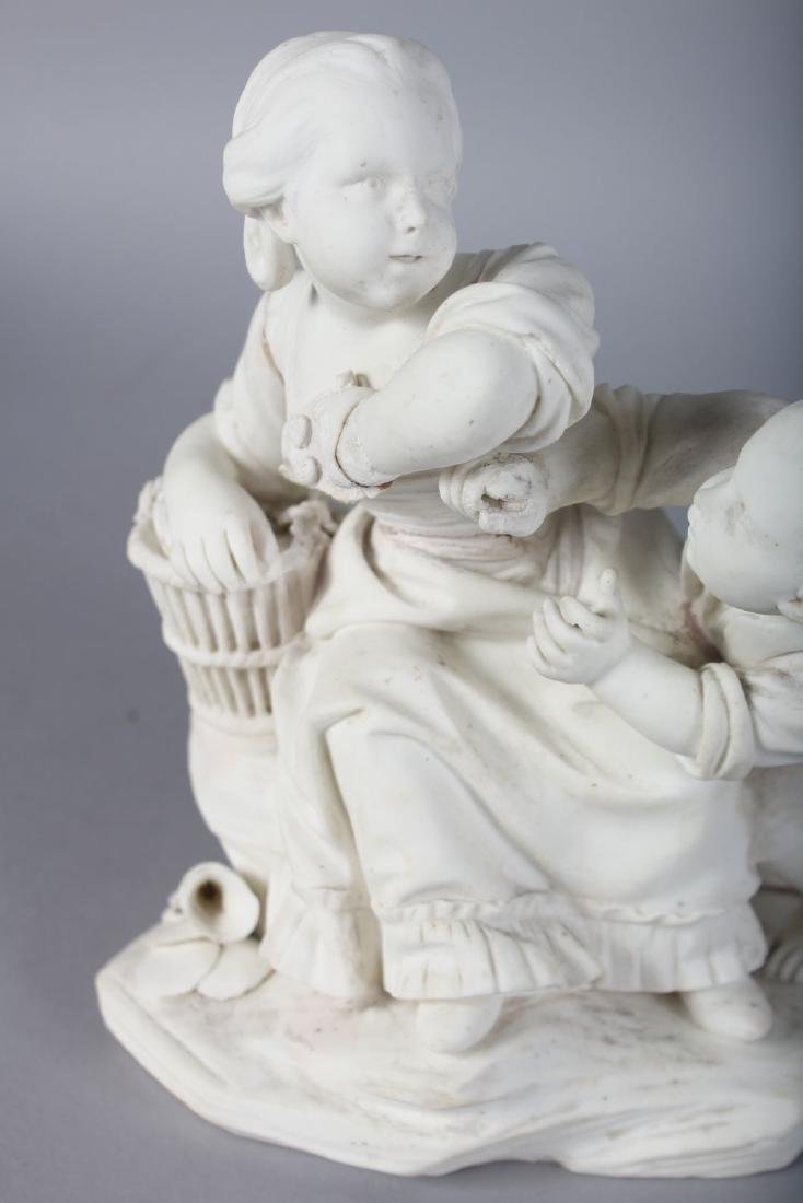 AN 18TH CENTURY SEVRES BISCUIT PORCELAIN FIGURE GROUP - 2