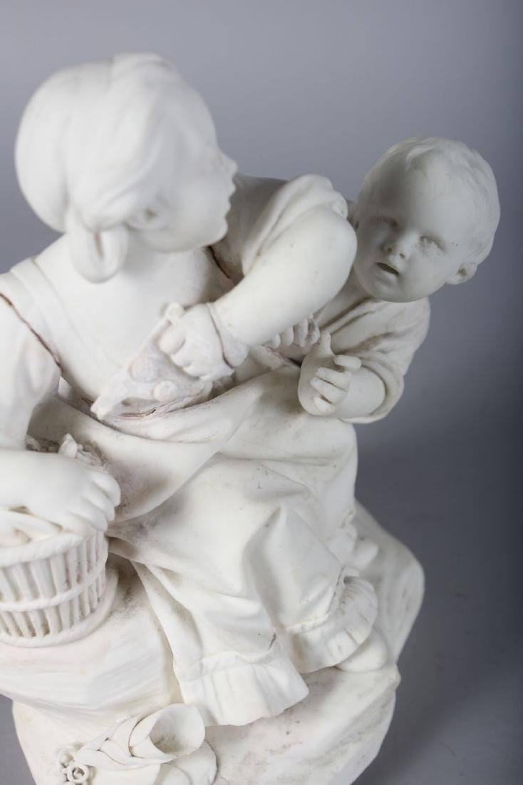AN 18TH CENTURY SEVRES BISCUIT PORCELAIN FIGURE GROUP - 3